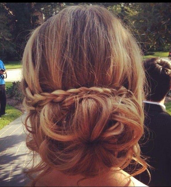 Wedding Bridesmaid Braid Updos