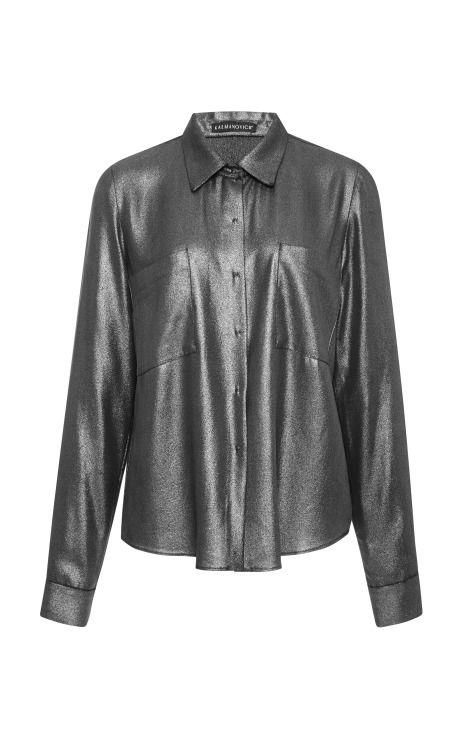 Silver Shirt by Kalmanovich - Moda Operandi