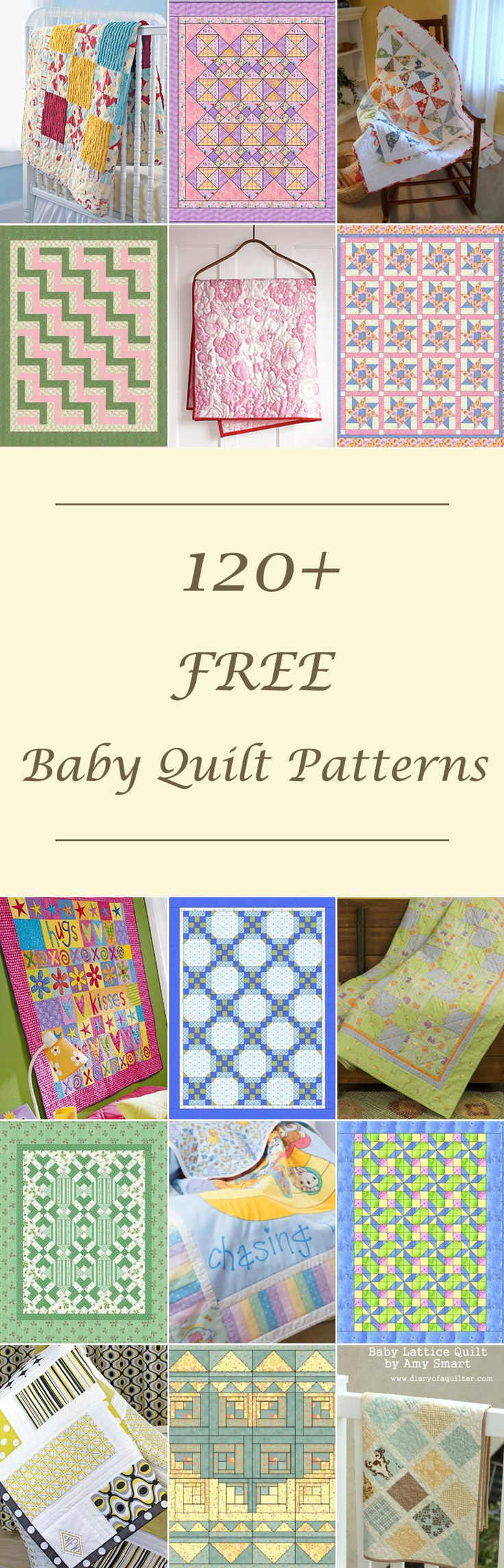 Baby crib quilt patterns free - Lots Of Free Baby Quilt Patterns Tutorials Girl Boy And Unisex Designs