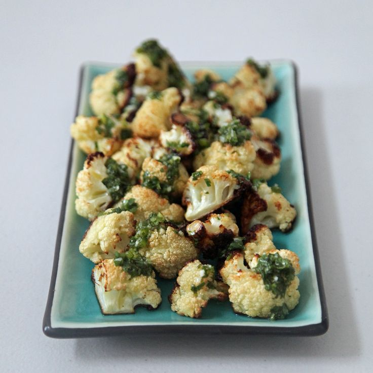 Roasted Cauliflower With Salsa Verde...heck yes...