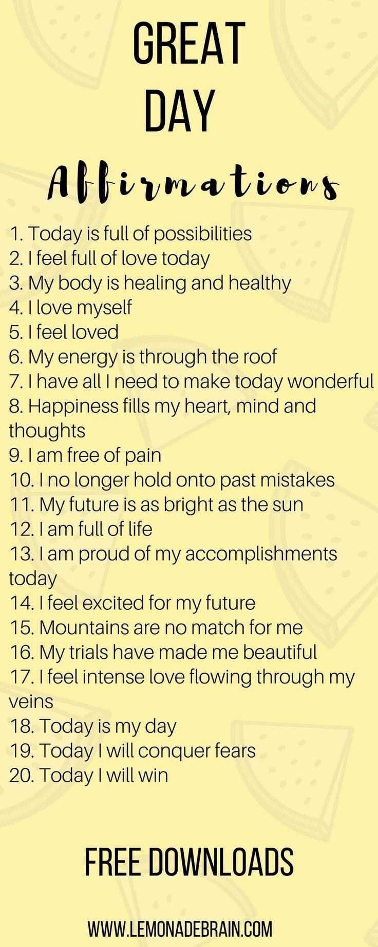 Bestätigungen für einen besseren Tag – #affirmations #Besseren #Bestätigungen #einen #für #Tag