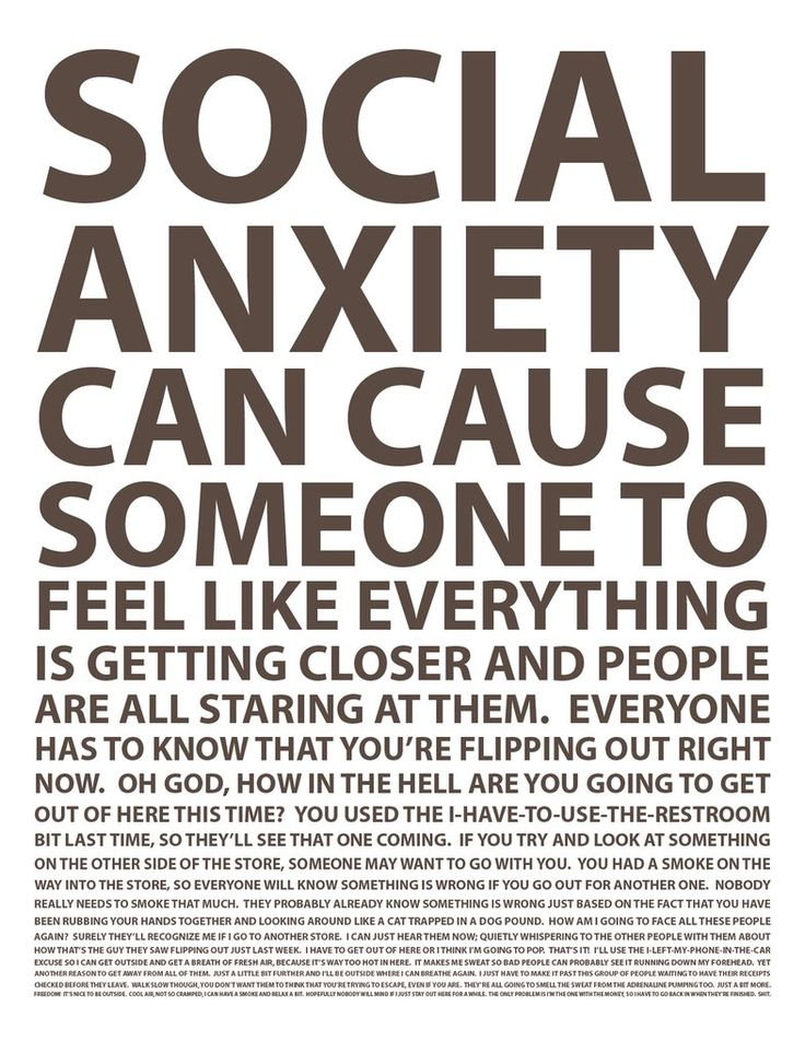 social anxiety and people