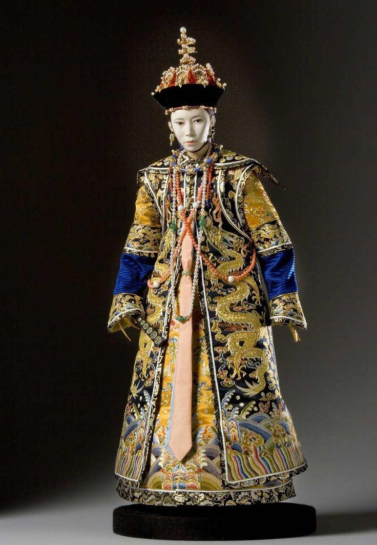 Full length color image of Tzu-An Empress aka. Empress Niuhulu, by George Stuart.