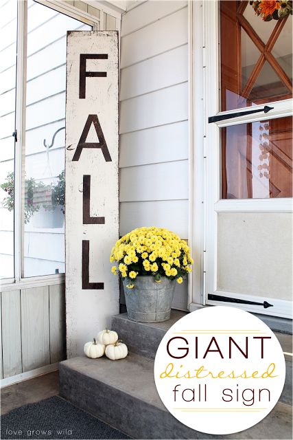 Make a big impact with this Giant Distressed Sign! Learn how at LoveGrowsWild.com
