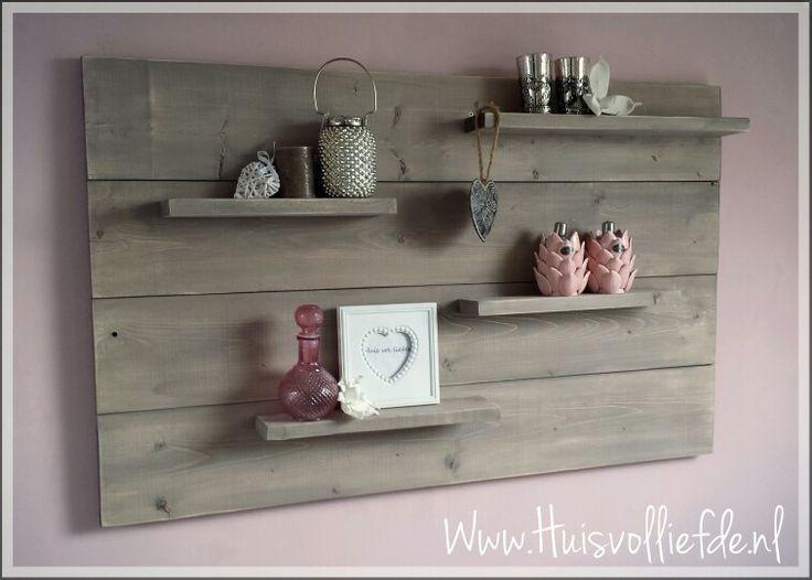 Wandbord steigerhout hout pinterest wands pink and home - Home decoratie met tomettes ...