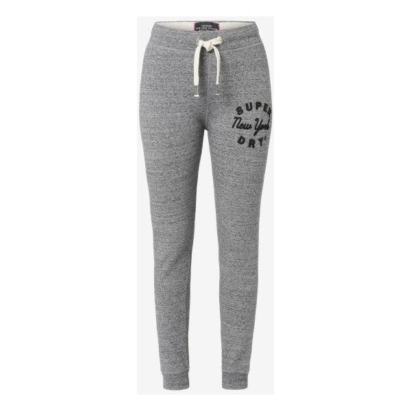 Superdry Sweatpants 'Applique Jogger' ❤ liked on Polyvore featuring activewear, activewear pants, superdry sweatpants, sweat pants, jogger sweatpants, jogger sweat pants and superdry