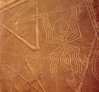 SPIDER: Scholars believe the Nazca Lines were created by the Nazca culture between 400 and 650 AD.