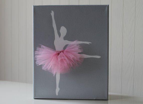 Baby Girl Nursery Decor Ballerina Nursery Art di JoanitaBonita