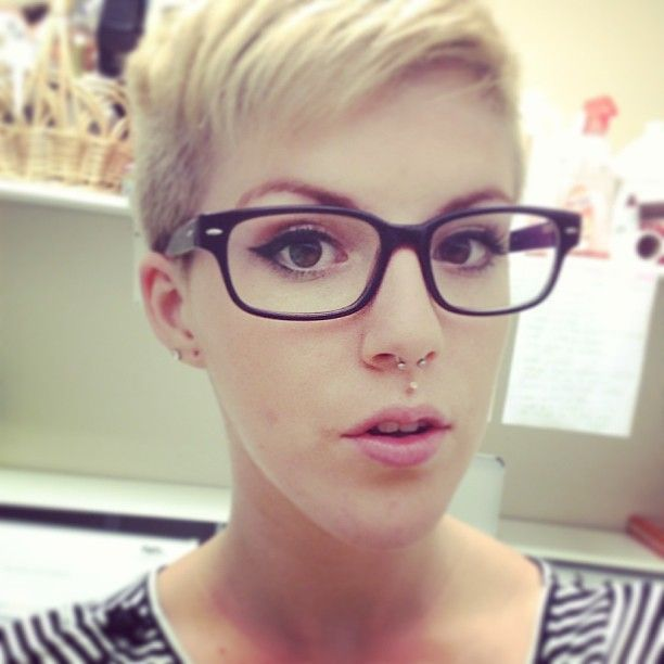 1000 Images About Pixie Cut With Glasses On Pinterest