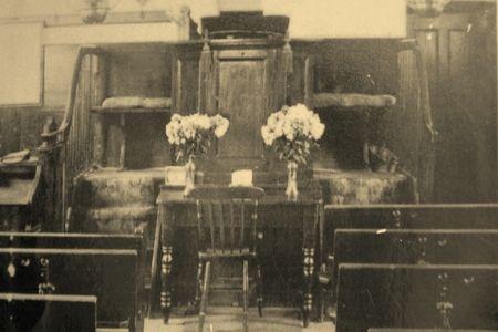 Inside Imber Baptist Chapel