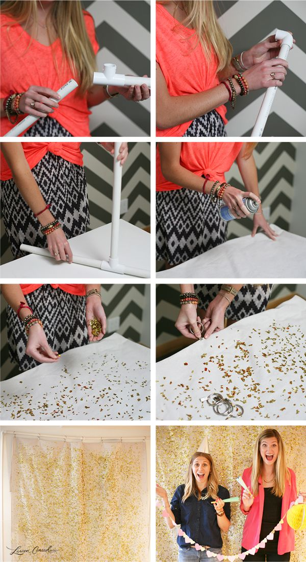 How to Make a DIY Glitter Photo Backdrop