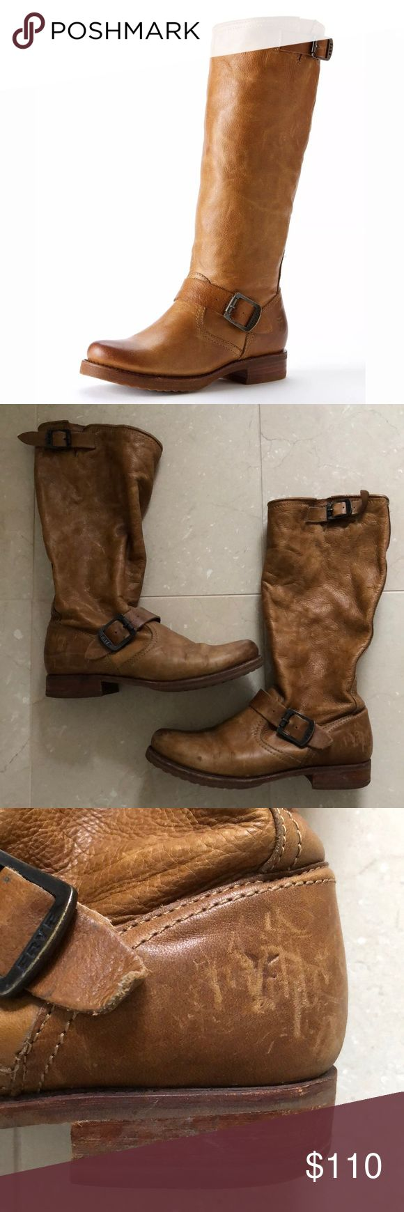 Frye Veronica Slouch Boots Camel Leather Size 8.5 Frye Veronica Slouch Boots size 8.5 Good used condition with lots of life left Super cute! Frye Shoes