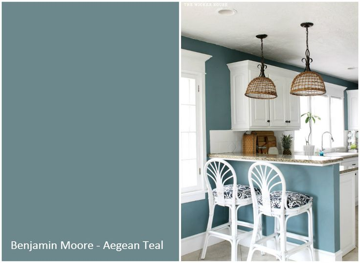 The Wicker House Paint Colors   Benjamin Moore Aegean Teal Part 74
