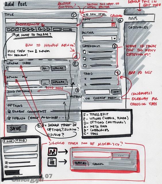 i wanna sketch like this - BlogEngine Add/Edit Posts Form - sketch by Janko Jovanovic, via Flickr #sketch #UI