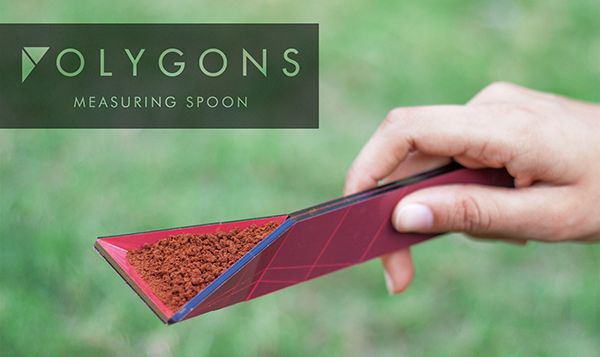 The Polygons Measuring Spoon is an innovative and surprising redesign of the kitchen tool that eliminates the need for multiple measuring units, thereby saving space and