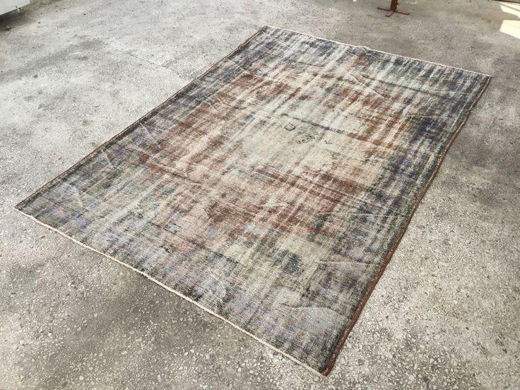 VINTAGE Turkish ANATOLIAN OVERDYED Rug Carpet 9'5 x 6'6 by EclecticRug on Etsy