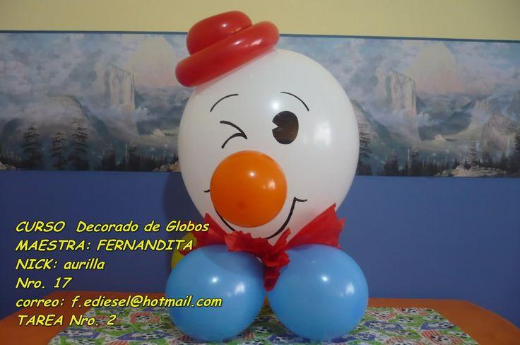 decoracion globos payasos -