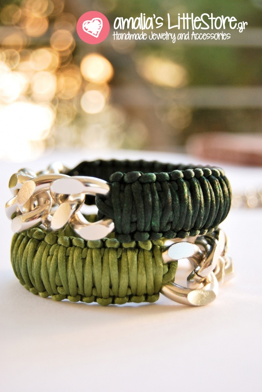 My green macrame bracelets!