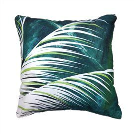 Palm Oasis 45cm x 45cm - Double sided cushion Australian made & designed Designs from original artworks www.lillyrockshop.com.au