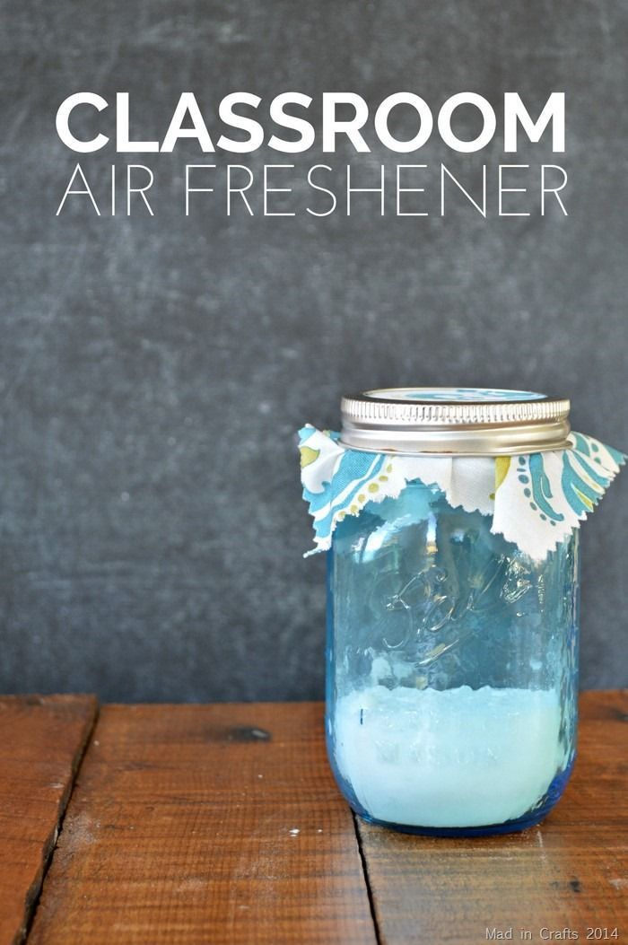 Classroom Jar Ideas ~ Classroom air freshener teacher appreciation gift mad in