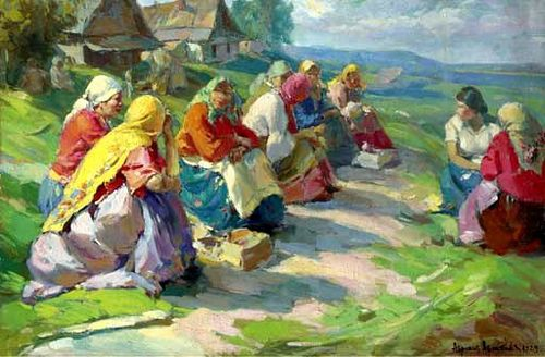Oil on canvas; 71.1 x 106 cm. Abram Efimovich Arkhipov was a Russian realist artist, who was a member of the art collective The Wanderers as well as the Union of Russian Artists. Born in the village of Yegorovo in the Ryazan Oblast to a religious Russian-Orthodox family, Arkhipov (birth name Abram Pyrikov) left for the Moscow School of Painting, Sculpture and Architecture in 1877, where he would fall under the tutelage of various Russian artists including Vasily Perov, Vasily Polenov an...