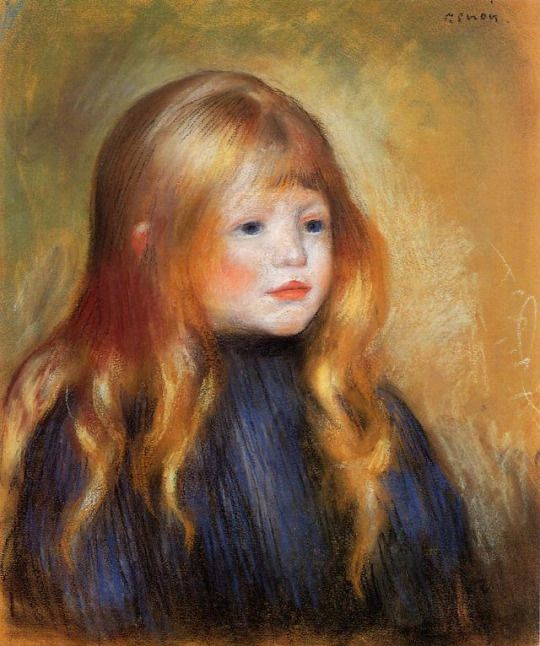 Head of a Child (Edmond Renoir) by Pierre-Auguste Renoir