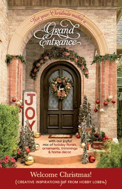 HobbyLobby Projects - Welcome Christmas! | Home Decor ...