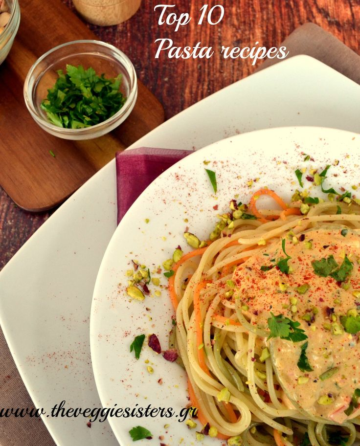 A delicious round up with popular pasta recipes. Cooked in the right way without butter, meat, heavy cream they are an ideal kind of meal that is filling and satisfying! Which one do you like the most?