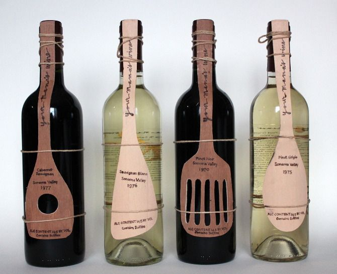 Your Mama's Wine, design for cooking wine by Stephanie Rachel PD