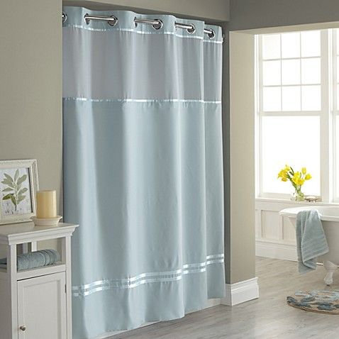 HooklessR Escape 71 Inch X 74 Fabric Shower Curtain And Liner Set In Blue