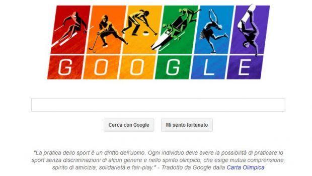 Carta Olimpica, il Google Doodle per i Giochi Olimpici Invernali di Sochi 2014 è contro la discriminazione