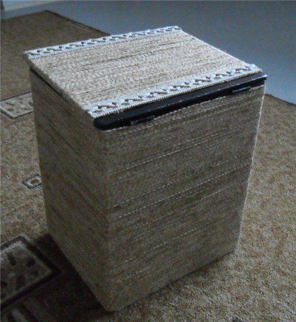 Из старого ящика в стильный пуфик)) - Ярмарка Мастеров - ручная работа, handmade