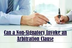 Can a non-signatory invoke an arbitration clause