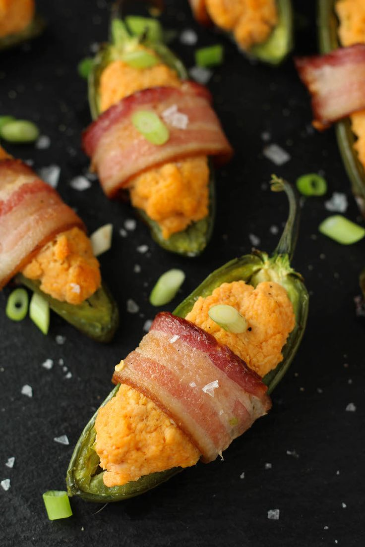 PaleOMG Bacon Wrapped Buffalo Chicken Jalapeños