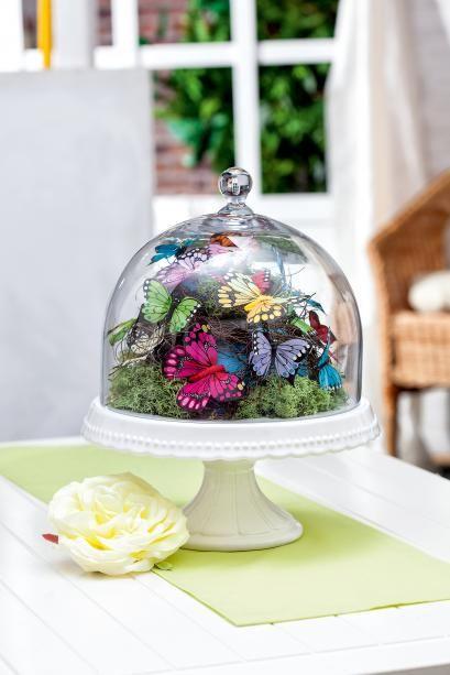 Anleitung: Federleichte Schmetterlings-Deko | VBS Hobby Bastelshop
