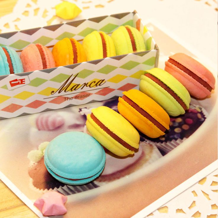 cake eraser Colorful gomas de borrar personality silgi gomme kawaii school supplies material escolar materiais escolares