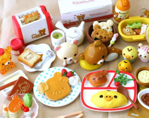 kawaii Doll House Miniature COMPLETE RE-MENT Rillakuma cartoon food collectibles, £50.00 | eBay