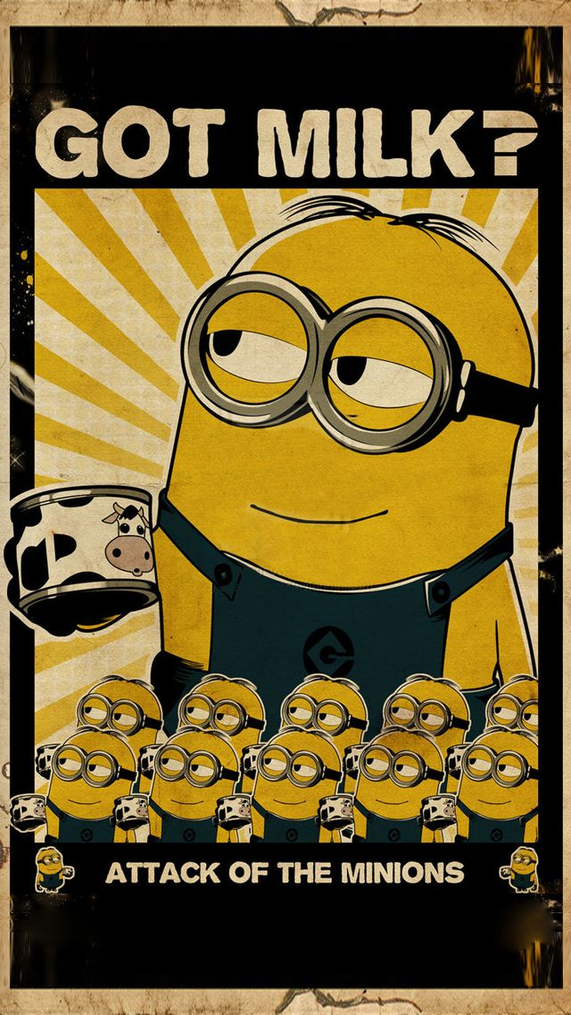 Despicable Me Minion Vintage Poster I Iphone5 Wallpaper   Mobile9  #DespicableMe Get More #Minions