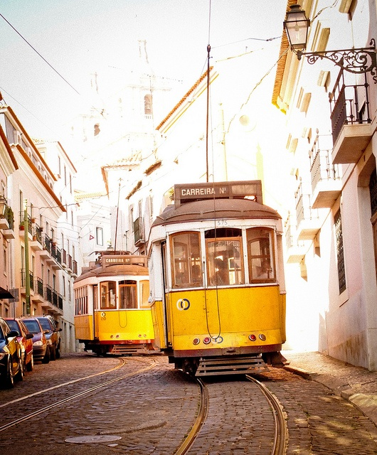 Yellow Trams in Lisbon. Photo: Andrea Dixon / Flickr user Studio6or7. Lisbon, Portugal