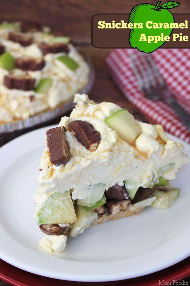Snickers Caramel Apple Pie - Easy No Bake Dessert
