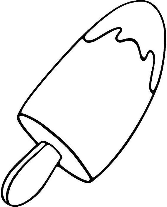 fun popsicle coloring sheet for kids Yummy ice cream