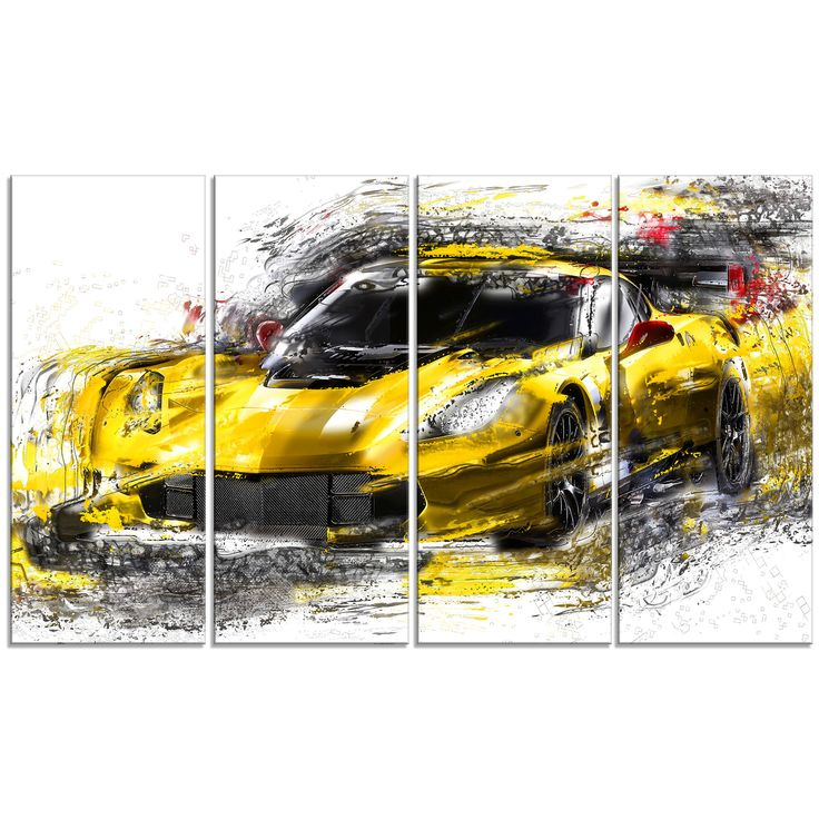 - Description - Why Accent Canvas? This exquisite Black and Yellow Exotic Car - Canvas Wall Art Print is created using quality fade resistant inks on a premium cotton canvas to ensure durability. This