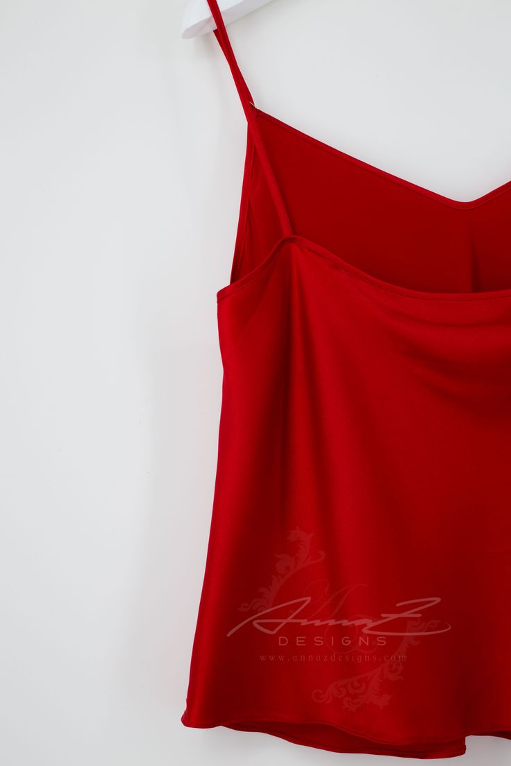 Glen Top in Ruby Silk by AnnaZDesigns  (back)