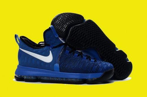 3005e4ea0947 Factory Authentic Nike KD 9 On-Court Game Royal Black-White 855908-410 -  Mysecretshoes