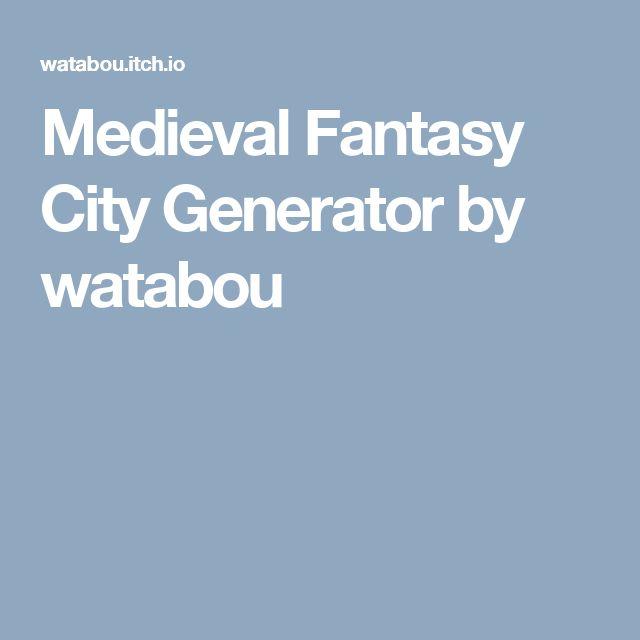 Medieval Fantasy City Generator by watabou