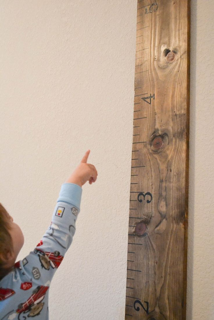 Our Love and Our Blessing: DIY Height Ruler for Our Toddler