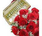 Celebrate the bond of love & emotion - with this gift hamper. It consist of beautiful basket of 18 yellow roses with fillers, 200g mix dry fruits box with 500g mix sweets in a box.