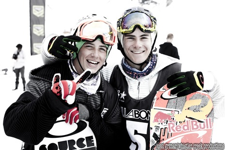the best friends... the two canadian teens... Seb & McMo! haha (Sebastian Toutant otherwise known as Seb Toots & Mark McMorris)