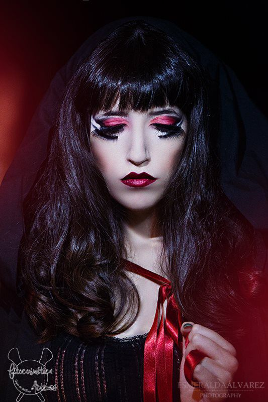 little red riding hood haloween #haloween, #hair, #beauty, #hairstyle, #makeup, #fantasy