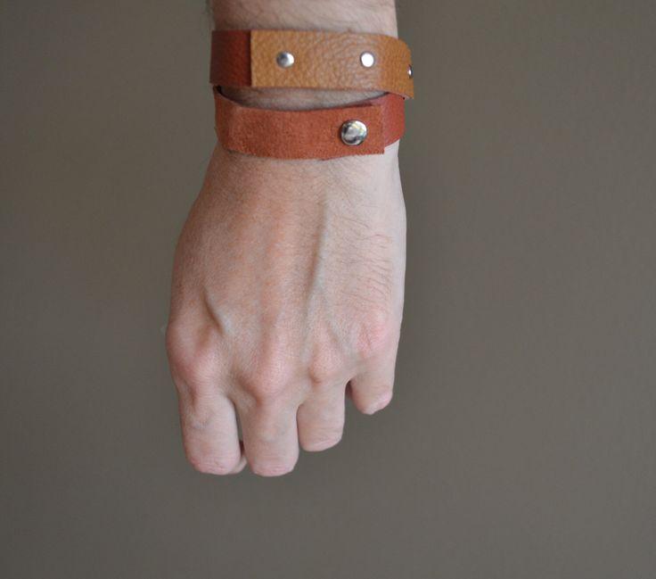 boho wrap bracelet rust and cognac genuine leather - gypsy festival bracelet - rust orange cognac wrap leather bracelet - gift for her - by redstitchlab on Etsy https://www.etsy.com/listing/251564345/boho-wrap-bracelet-rust-and-cognac